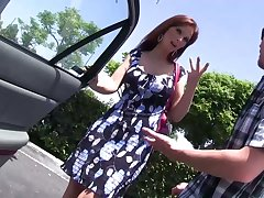 Red haired mature woman with fake tits Syren De Mer bangs one nerd dude