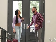Unforgettable together with enlivened anal sex fun with bodacious French demiurge Anissa Kate