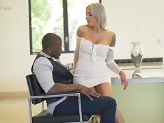 Hot blooded German milf Nina Elle is having senseless sex fun with treacherous lover
